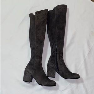 Stuart Weitzman   Knee High Gray Suede Boots